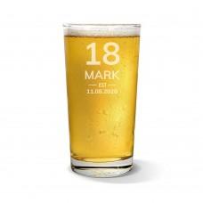 Birthday Pint Glass