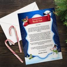 Blue Santa Letter