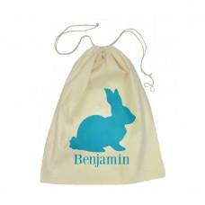 Blue Bunny Drawstring Bag