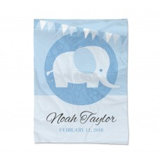 Blue Elephant Blanket