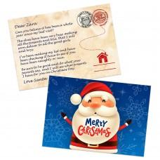 Blue Santa Postcards
