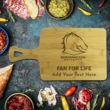 NRL Broncos Rectangle Bamboo Serving Board