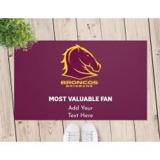 NRL Broncos Door Mat