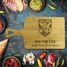 NRL Bulldogs Rectangle Bamboo Serving Board