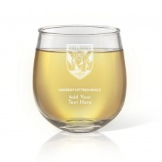 NRL Bulldogs Father's Day Stemless Wine Glass