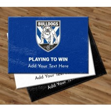 NRL Bulldogs Glass Cutting Board
