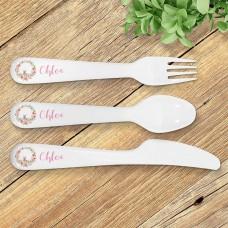 Bunny Wreath Kids' Cutlery Set