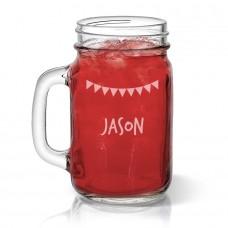 Bunting Mason Jar