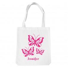 Butterflies White Tote Bag