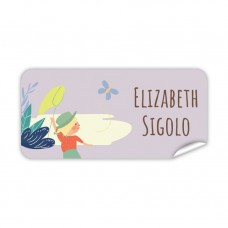 My Adventure - Butterfly Rectangle Name Label