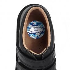 Camo Shoe Dot Label