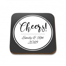 Cheers Square Coaster