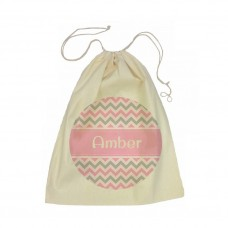 Chevron Drawstring Library Bag