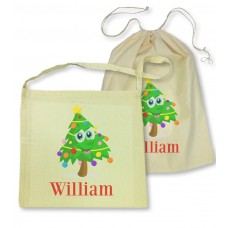 Christmas Tree Library Bag