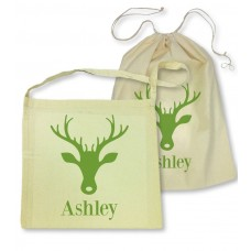 Green Stag Library Bag