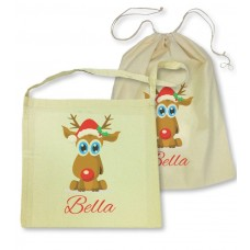 Reindeer Library Bag