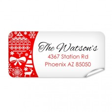 Christmas Pattern Return Address Label