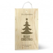Christmas Tree Double Wine Box