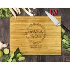 Christmas Wishes Bamboo Cutting Board