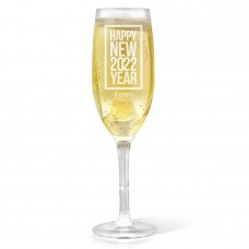 Classic New Year Champagne Glass