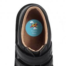 Airplane Shoe Dot Label
