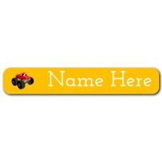 Big Truck Mini Name Label
