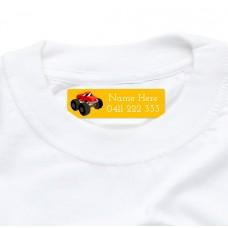 Big Truck Iron On Clothing Label