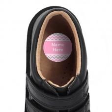 Chevron Shoe Dot Label