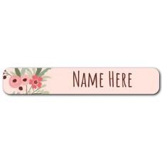 Flower Wreath Mini Name Label