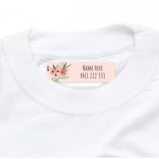 Flower Wreath Iron On Clothing Label