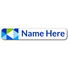 Geometric Mini Name Label