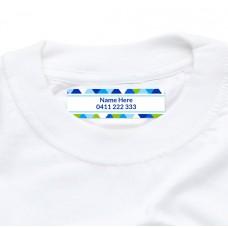 Geometric Iron On Clothing Label