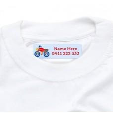 Motorbike Iron On Clothing Label