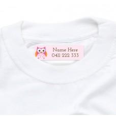 Owl Iron On Clothing Label