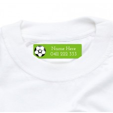 Soccer Iron On Clothing Label