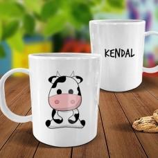 Cow White Plastic Mug