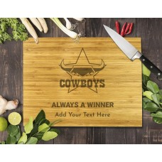 NRL Cowboys Bamboo Cutting Board