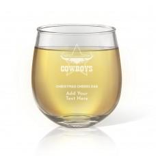 NRL Cowboys Christmas Stemless Wine Glass