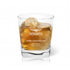 NRL Cowboys Christmas Tumbler Glass