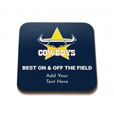 NRL Cowboys Square Coaster