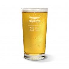 NRL Cowboys Pint Glass