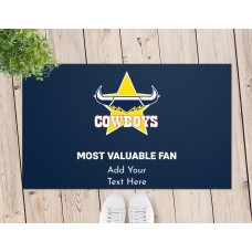NRL Cowboys Door Mat