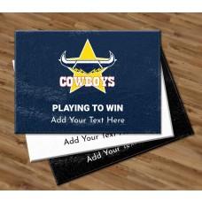 NRL Cowboys Glass Cutting Board