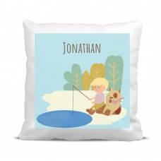 My Adventure - Fishing Boy Cushion Cover
