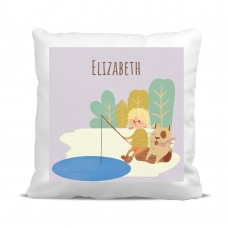 My Adventure - Fishing Girl Cushion Cover
