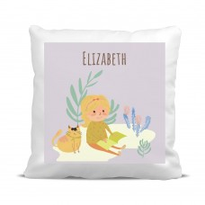 My Adventure - Reading Girl Cushion Cover