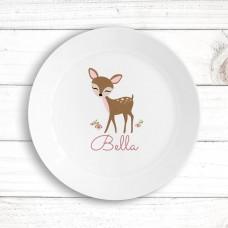 Cute Deer Kids' Plate