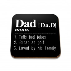 Dad Noun Square Coaster