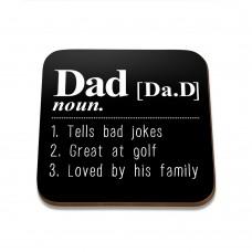 Dad Noun Square Coaster