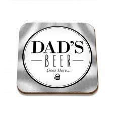 Dad's Beer Square Coaster